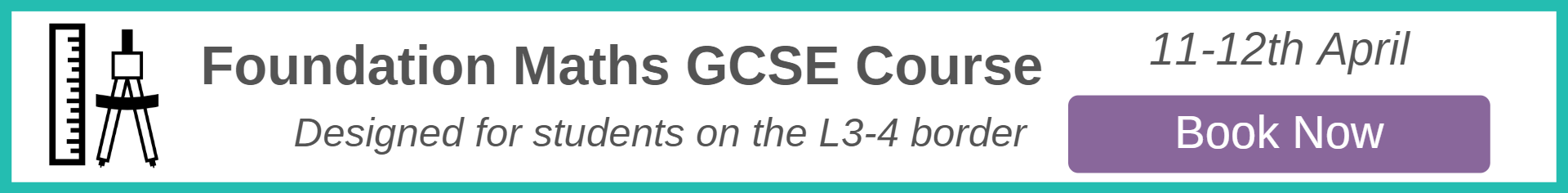 Foundation Maths GCSE Easter Revision Course